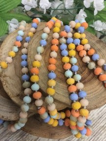 Point Of Perfection Beaded Necklace In Pastel Surprise