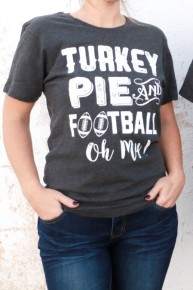 Turkey, Pie & Football Graphic Tee Sizes 4-20