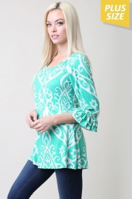 Love Surrounds Me Damask Top - Sizes 12-20