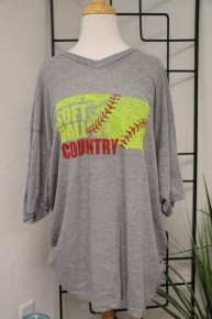 Oklahoma Softball Country Graphic Tee *Final Sale*