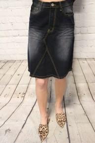 Go with it Black Denim Skirt Sizes 4-10