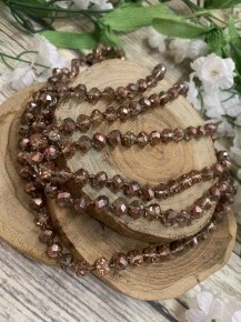 Point Of Perfection Beaded Necklace In Rose Gold