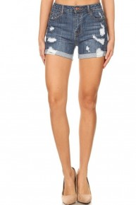 The Becca Highrise Distressed Denim Shorts- Sizes 4-10