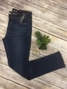 The Natalia Straight Leg Jeans In Dark Denim - Sizes 0-15