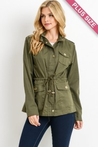 Coming In Hot Olive Hooded Jacket- Sizes 12-20