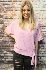 Wrapped Up in You Wrap Knit Top with Tie in Multiple Colors - Sizes 4-10