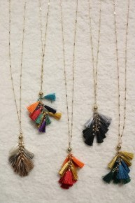 You Are Forgiven Multicolor Tassel Necklace - Multiple Options