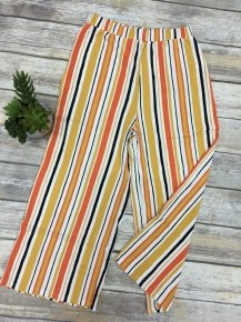 Beauty Inside And Out Striped Pants In Orange - Sizes 4-10