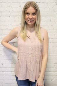 Always Knew Pleated Top In Blush- Sizes 4-10