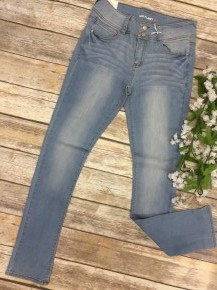 The Harley Light Denim Jeans With Double Button - Sizes 0-15