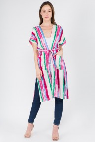 Feelin' Serape Splash of Color Kimono ~ One Size Fits Most - 4-20