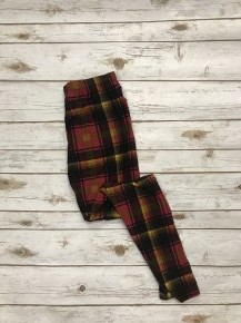 Stay Determined Pink & Black  Plaid Leggings Sizes 4-20