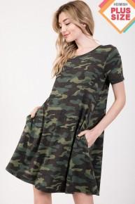 All Hidden Camo Short Sleeve Dress- Sizes 12-20