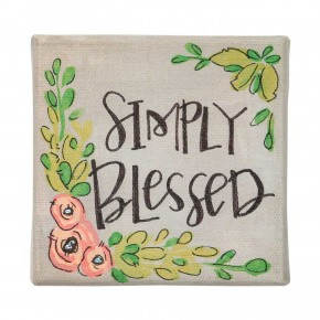 Simply Blessed Canvas Sign