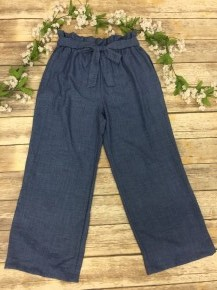 Let's Go To The Beach Woven Pant In Denim