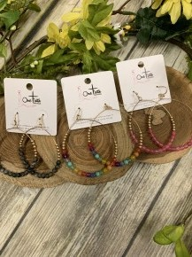 Life's A Party Circe Earrings With Beads In Multiple Colors
