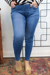 The Christine Jeans In Denim Blue - Sizes 12-20