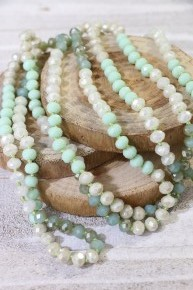 Point Of Perfection Beaded Necklace In Sweet Pea Dream