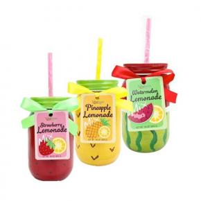 Sunny Days Citrus Lemonade Drink Mix with Painted Mason Jar in Multiple Flavors *Final Sale*