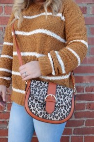 Fun Time Out Round Leopard Bag With Buckle Detail In Multiple Colors