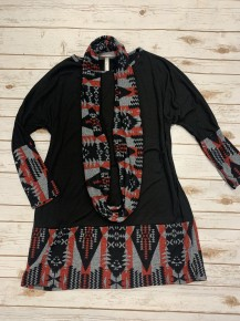 I Refuse Hacci Sweater  Dress & Scarf In Black  - Sizes 12-20