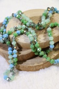 Point Of Perfection Beaded Necklace In Lily Pad