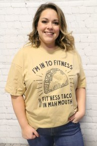 I'm Into Fitness Taco Graphic T-Shirt - Multiple Colors - Sizes 4-18