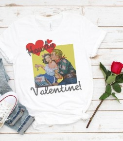 Howdy Valentine Graphic Tee In White - Sizes 4-12