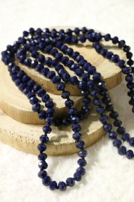 Point Of Perfection Beaded Necklace In Deep Water