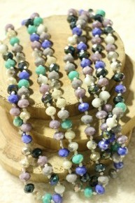 Point Of Perfection Beaded Necklace In Low Tide