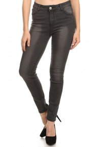 The Michelle Black Washed Skinny Jeans Sizes 1-15