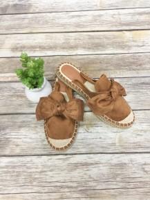 I Told You So Espadrille Slip-On Shoes ~ Chestnut