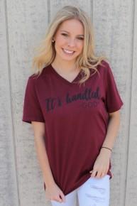It's Handled  Heather Burgundy- Sizes 6-18