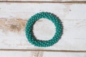 Perfect Stretch Mint Sparkle Beaded Bracelet
