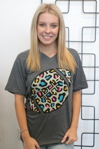 It's Football Time Graphic Tee in Charcoal ~ Sizes 6-18