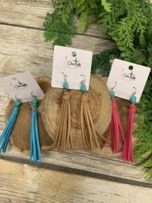 Don' Fear Leather Tassel Earrings In Multiple Colors