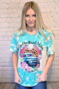 On the Road Again Tie Dye Graphic Tee-Sizess-6-18