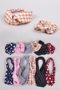 Only Time Will Tell Knotted Headband and Scrunchie Set in Multiple Colors