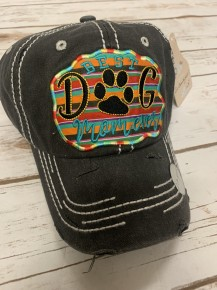 Best Dog Mom Ever Serape Mix Ball Cap In Multiple Colors
