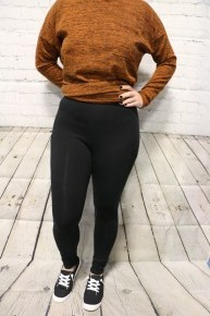 Comfy Cute Workout Pants With Pocket In Black - Sizes 4-12