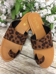 Eager To Please Leopard Sandals