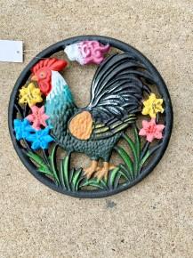 Cock-A-Doodle-Doo Cast Iron Rooster Trivet