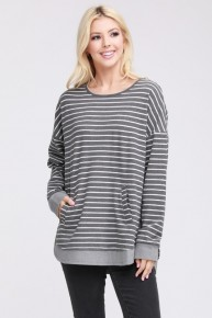 Thats The Way Striped Long Sleeve Top In Multiple Colors- Sizes 12-20