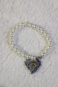 Love Of My Life Beaded Bracelet with Heart Charm