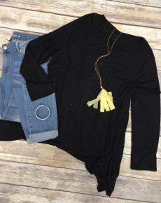 As Simple As That Tunic in Black - Sizes 12-20
