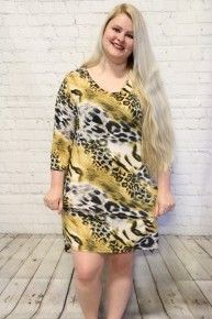 Lost Without You Animal Print Dress- Sizes 12-20