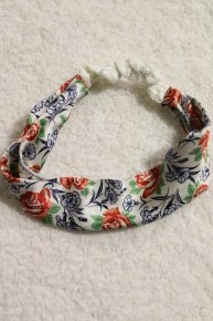 Rose Print Silk Headband