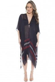 It's Gonna Be Alright Striped Kimono ~ One Size Fits Most 4-20