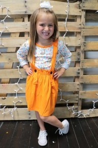 Popsicle Party Kids Two Piece Set With Sloth Detail in Orange