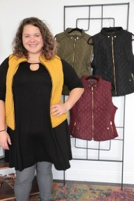 Stay Positive Quilted Puffer Vest in Multiple Colors Sizes 12-20